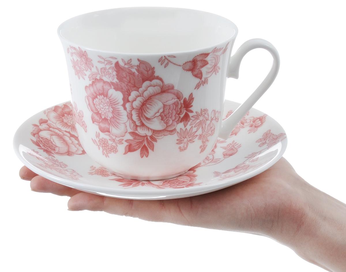 Чайная пара с цветами фото