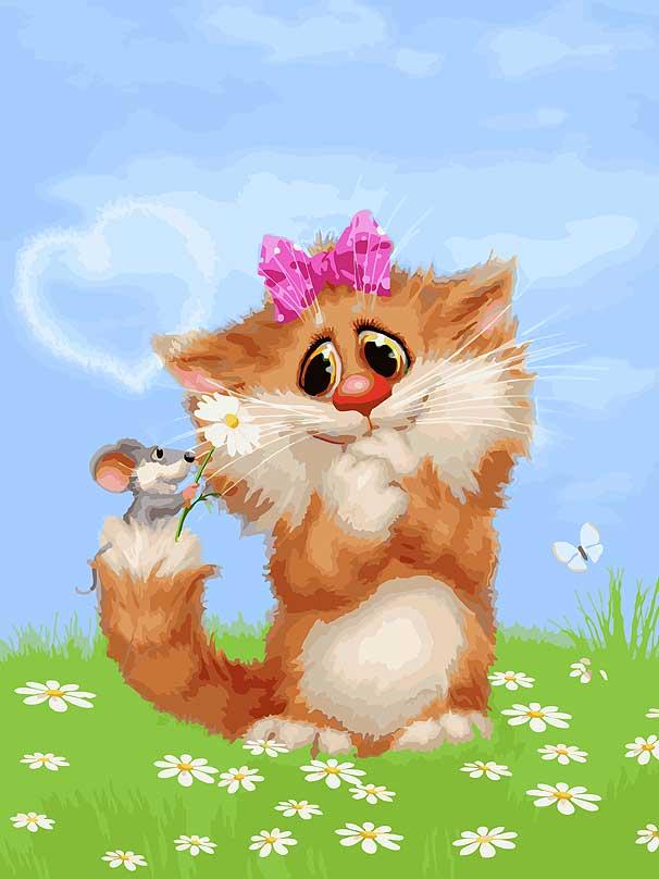 Картинки с котенком поздравления, открытка годик мальчику