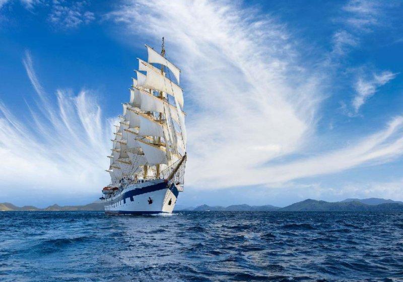Открытка с морем и кораблями, бабушка смешная прощай