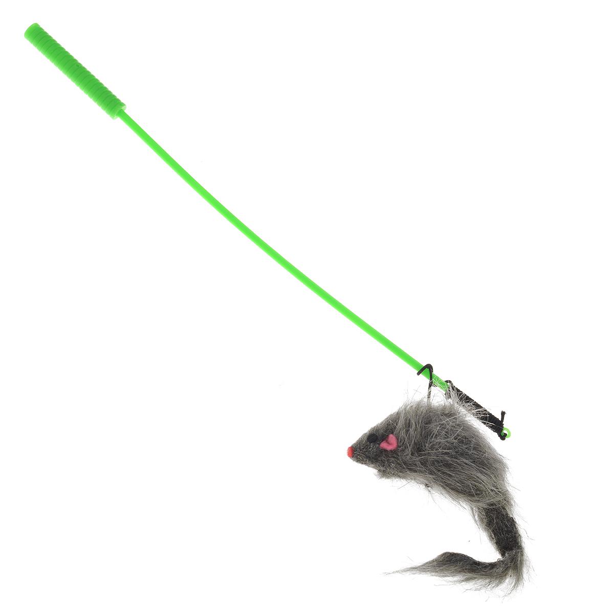 дразнилка удочка с игрушкой мышь st-108