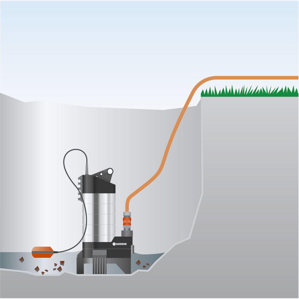 дренажный насос для воды с поплавком
